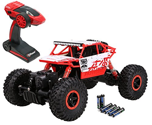 Top Race Remote Control Rock Crawler, RC Monster Truck 4WD, Off Road Vehicle, 2.4Ghz Batteries Included (TR-130) (Remote Trucks compare prices)