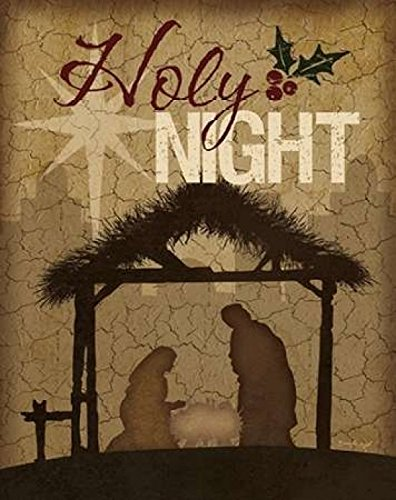 Holy Night Nativity Poster Print by Jennifer Pugh (11 x 14)