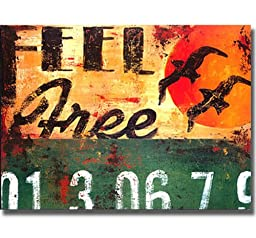 Feel Free by Rodney White Premium Stretched Canvas Art (Ready to Hang)