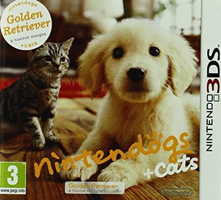 Nintendo 3DS Nintendogs + Gatos: Golden Retiever