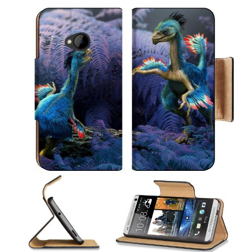 Ancient Animals Dinosaurs Creature Digital Dino Htc One M7 Flip Cover Case With Card Holder Customized Made To Order Support Ready Premium Deluxe Pu Leather 5 11/16 Inch (145Mm) X 2 15/16 Inch (75Mm) X 9/16 Inch (14Mm) Liil Htc One Professional Cases Acce