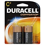 Duracell Coppertop Batteries, Alkaline, C, 2 batteries