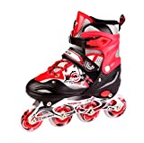 kamachi inline skates medium size (RED/WHITE)