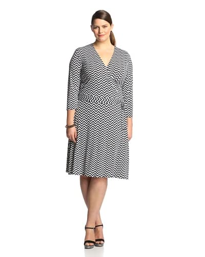 Leota Plus Women's Cropped Sleeve Perfect Wrap Dress