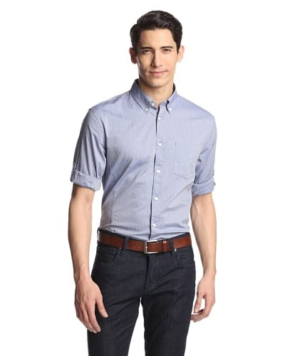 John Varvatos Men's Star U.S.A. Roll Up Shirt with Button-Down Collar