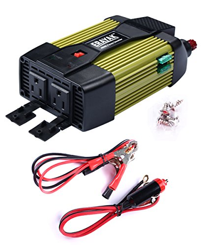 (ETL Approved) ERAYAK 400W Power Inverter Dual US Outlets,2.1A USB Ports w/ Car Cigarette Lighter Cable&Battery Clamps Clips Cable,DC12V to AC110V,for Laptop,Tablet,Game Console,TV,Fan,Cooler-8126U (12v Car Microwave compare prices)