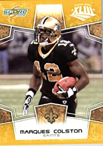 2008 Score SuperBowl Gold NFL Football Card - (Limited to 800 Made) # 195 Marques Colston WR - New Orleans Saints