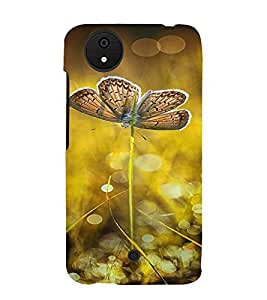 PrintVisa Butterfly Design 3D Hard Polycarbonate Designer Back Case Cover for Micromax Canvas Android A1