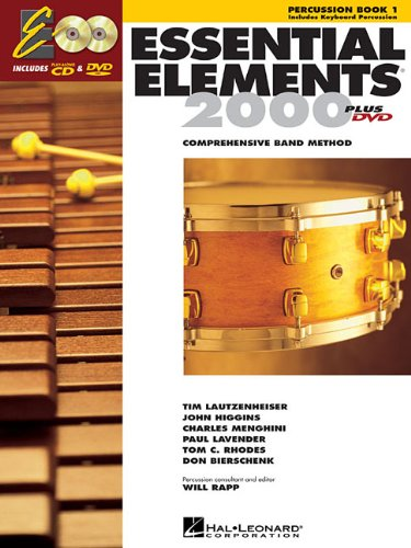 Essential  Elements 2000 Percussion Book 1 Plus DVD and CD