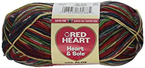 Coats Yarn Red Heart Heart and Sole Yarn, Christmas