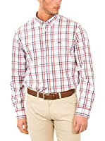 McGregor Camisa Hombre Han Billy A Bd Cf Ls (Rojo / Gris / Blanco)