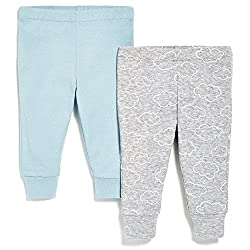 SkipHop Baby-Boys Starry Chevron Pants Set, Blue, 9 Months