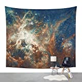 """Society6 Space Nebula, Star And Space, A View Of Galaxy And Outerspace Wall Tapestry Large: 88"""" x 104"""""""