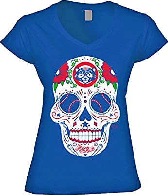 Chicago Cubs Sugar Skull Women's Shirt