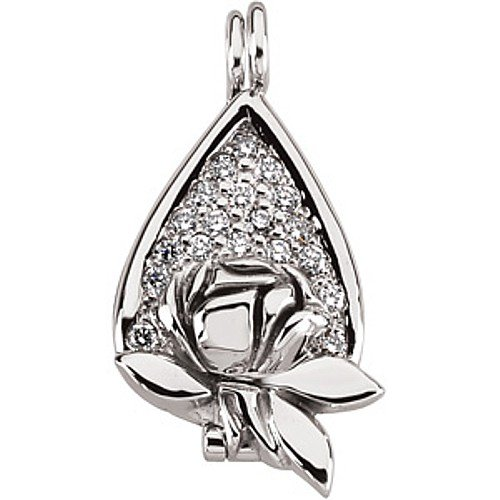 14k white gold diamond memorial tear locket pendant 025 ct buy 14k white gold diamond memorial tear locket pendant 025 ct now mozeypictures Choice Image