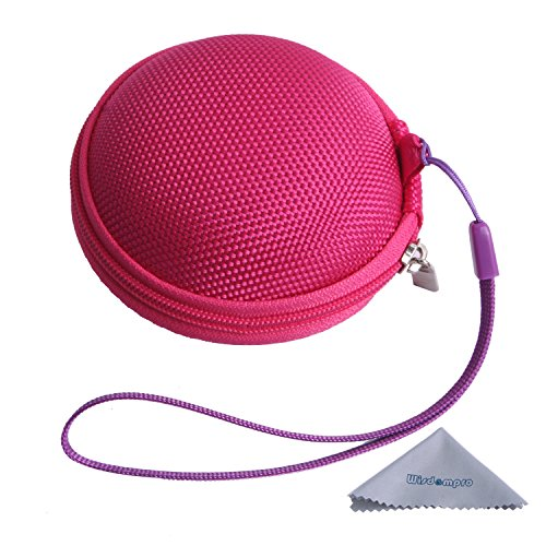 Dedeciated Colorful Replacement Protective Carrying Case/Bag/Pocket Save/Holder For Bose Ie2 Mie2 Mie2I Sie2 Sie2I Ie1 Mie1 In-Ear Fit Headphones Mobile Sport Headset (Hot Pink)