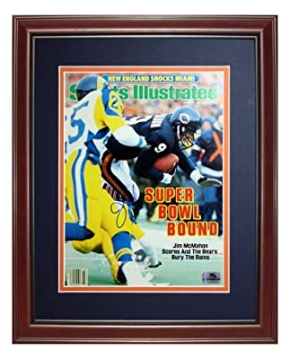 Jim McMahon Autographed Chicago Bears (1/20/86) Deluxe Framed Sports Illustrated Magazine
