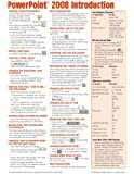 PowerPoint 2008 for Mac: Introduction Quick Reference Guide (Cheat Sheet of Instructions, Tips & Shortcuts - Laminated Card)