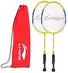 Li-Ning Badminton Racquet Basic With Cover Junior Q10 White/Red ...