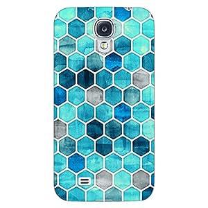 Jugaaduu Blue Hexagons Pattern Back Cover Case For Samsung Galaxy S4 Mini I9192