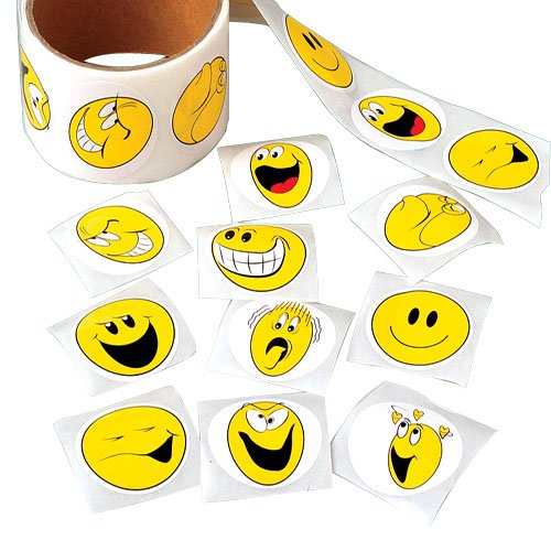 Smiley Face Sticker Rolls