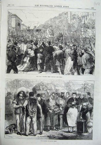 1870 War Prussian Spies Paris Halles Centrales France