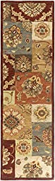 Multi-Color Rug Classic Design 2-Foot 3-Inch x 10-Foot Hand-Made Traditional Wool Carpet