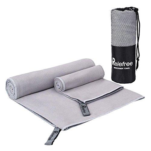 relefree-2-x-toallas-deportivas-microfibra-super-absorbente-secado-rapido-antibacteriano-gris-claro