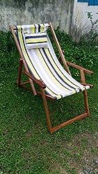 Hangit Easy deck wooden chair furniture for garden living room - Multi-stripe