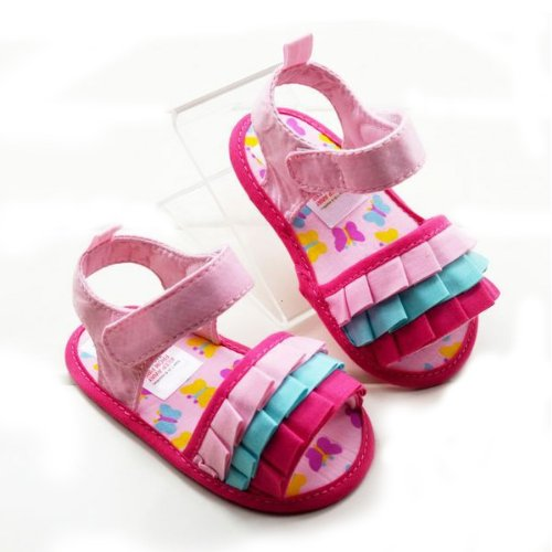 Infant Pinks Toddler Baby Girls Shoes Flower Kid Sandals X21z