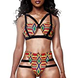 HUAHUI-Womens-African-Print-Inspired-Two-Piece-Bathing-Suit