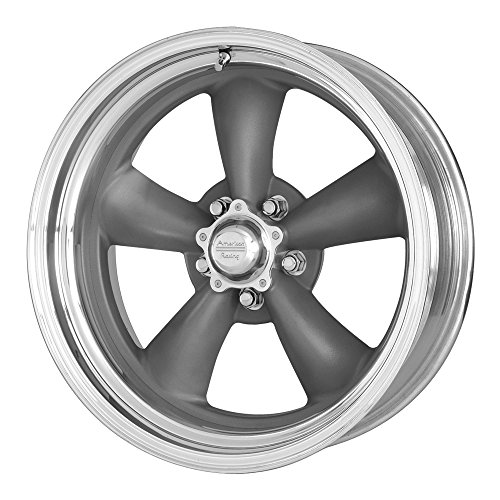 American Racing VN215 Classic Torq Thrust II 1 Pc Mag Gray Wheel with Center Polished Barrel (18x7