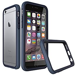 iPhone 6s Plus Case [Dark Blue] RhinoShield CrashGuard Bumper [11 Ft Drop Tested] No Bulk [EggDrop Technology] Thin Lightweight Protection [Includes Back Transparent Skin] Also fits iPhone 6 Plus