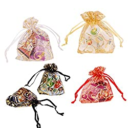 Multicolor Gift/Jewellery Pouches 5 Colors 7X9Cm