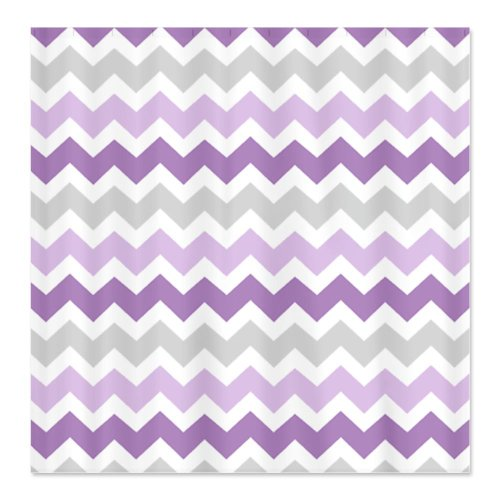 Best Purple Chevron Shower Curtain
