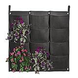 JOYOOO 12 tasche per piante, da parete Vertical Garden-Vaso da fiori per erbe aromatiche, fragole
