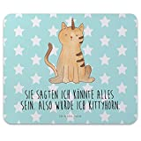 Mr-Mrs-Panda-Tapis-de-souris-impression-licorne-chat-100-fait-main-en-caoutchouc-naturel-Licorne-Unicorn-arc-en-ciel-paillettes-Pups-paillettes-licorne-Power-Devenir-adulte-licorne-Amour-chat-chat-amo