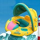 Neverland Beauty 幼児・子供用浮き輪 夏グッズ アウトドア 赤ちゃん 浮き輪 足入れ 屋根付き ボディーボード 子供を日差しから守る!