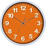 HITO Silent Non-ticking Colorful Wall Clock -12 Inches (Orange)