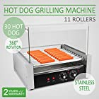 VEVOR Hot Dog Roller Rolling Machine 30 Hotdogs Cooker Popcorn 11 Rows with Cover (11 Rollers with Cover)