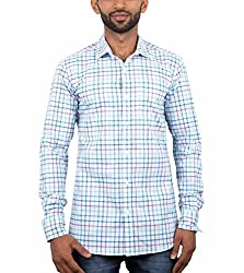 Maclavaro Mens Casual Shirt_9whitechcks_White_M