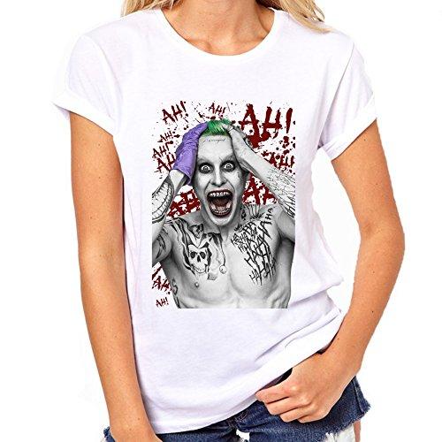 Suicide Squad Jared Leto Joker-Maglietta da donna, con grafica bianco small