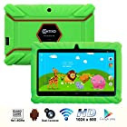 * Mother's Day Sale * Contixo 7 Inch Quad Core Android 4.4 Kids Tablet, HD Display 1024x600, 1GB RAM, 8GB Storage, Dual Cameras, Wi-Fi, Kids Place App & Google Play Store Pre-installed, 2015 May Edition, Kid-Proof Case (Green)