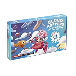Addition Subtraction Math Game Cloud Hopper : Board Game for kids 6 and up by Logic Roots