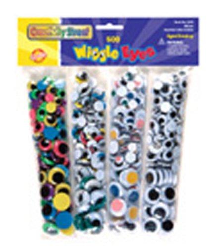 Wiggle Eyes Bonus Pack; 500 Piece Assortment; no. CK-3435