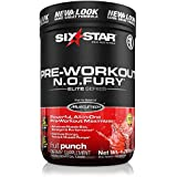 Six Star Pro Nutrition Elite Series Nitric Oxide Fury 1.2lb (544g) - Fruit Punch - Pre-Workout Powder (Packaging may vary)