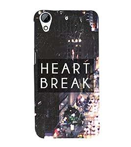 Fuson Premium Back Case Cover Broken heart With Multi Background Degined For HTC Desire 626::HTC Desire 626G Plus::HTC Desire 626G+
