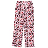 Pink Minnie Mouse Bow Fleece Pajama Pants for Women