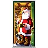 Beistle 1-Pack Santa Door Cover, 30-Inch by 5-Feet