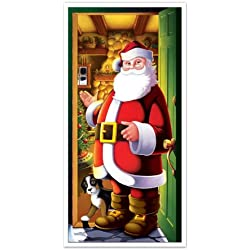 "Beistle 20012 Santa Door Cover, 30"" x 5'"